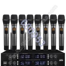 Беспроводная радиосистема micwl с цифровым микрофоном 8 ручными