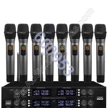 MICWL Wireless Radio Digital Microphone System - with 8 Handheld Sets for Stage karaoke performance etc.