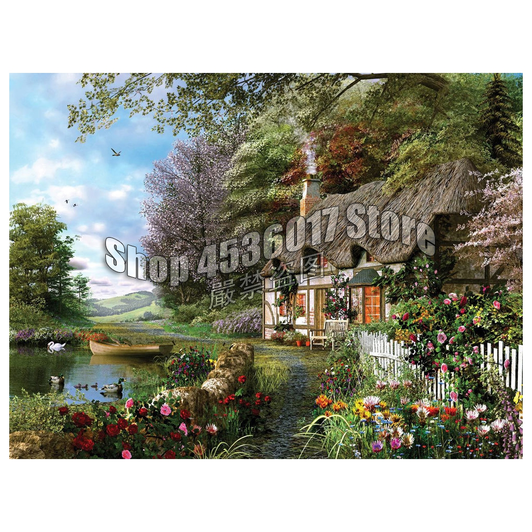 5d Diamond Mosaic Gardening & Flowers Spring Cabins Home Decor Embroidery Diy Diamond Painting Cross Stitch Kit Country Cottage