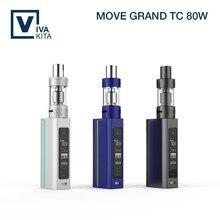 New electronic cigarette Vivakita 80w vape box mod with ceramic coil need 1pcs external 18650 electonic cigarette large vapuor