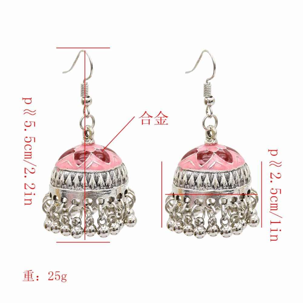ed0b359d4 ... Indian Vintage Silver Bells Statement Earrings Thailand Festival Party  Jhumka Earrings Hippie Holloween Boho Jewelry pakistani ...