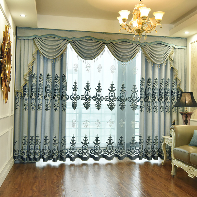 Curtains For Bedroom Jacquard Chenille Valance Swag