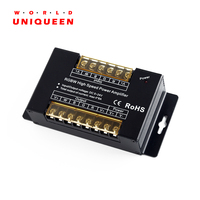 DC5 24V 8A 4CH Aluminum RGBW High Speed Power Amplifiers PWM Dimming Signal Input Power Repeater