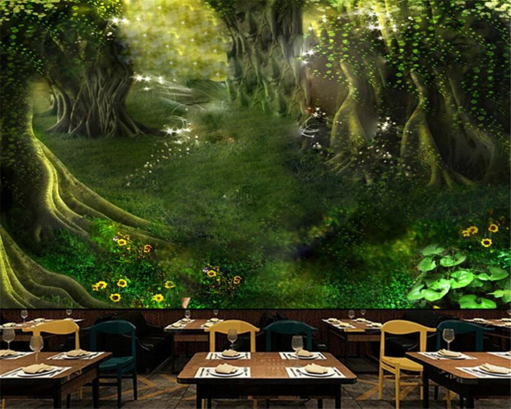 Beibehang Customize any size children room background wall wallpaper mural fairy tale forest tree path wallpaper for kids room beibehang lovely abc print kid bedding room wallpapers ecofriendly fantasy non woven wall paper children mural wallpaper roll