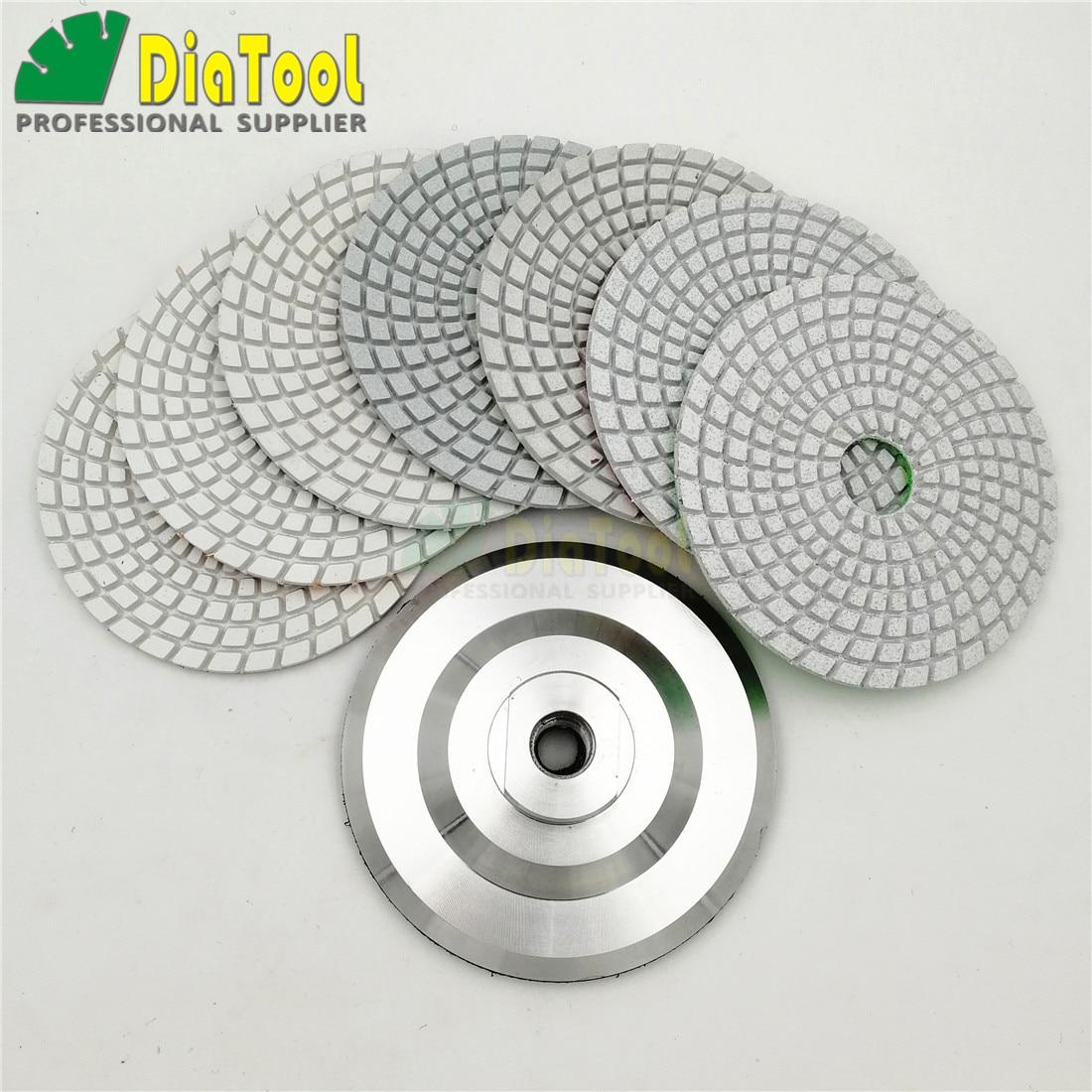 SHDIATOOL Diamond Wet Polishing Pads Diameter 4 Inch White