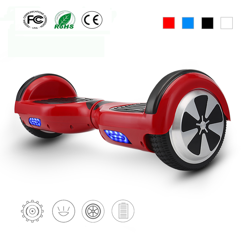 купить 4 Colors 6.5 Inch Hoverboard Two Wheels Self Balance Electric Scooter Skateboard Hover Board Gyroscope With Carry Bag недорого