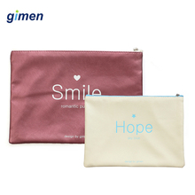 Simple Creative Letter PU File Bag Document Notebook Diary Planner Zipper Student Storage Office Supplies GC05-A508