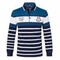 t shirt Brand clothing Tace&shark Men's t Shirt billionaire Men lapel embroidered t shirt Cotton business casual long sleeves