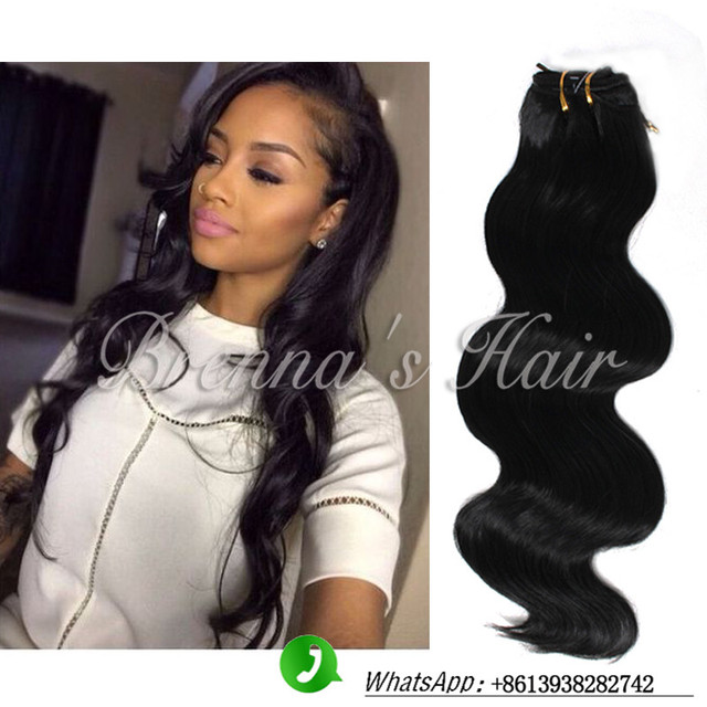 20inch Natural Black Body Wave Hair Synthetic Hair Extensions