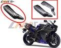 Capó de fibra de carbono de escape de la motocicleta se ajusta para YAMAHA YZF1000 R1 2009 2010 2011 2012 2013 2014