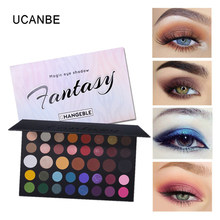 UCANBE 39 Color Eye Shadow Palette Shimmer Matte Eyeshadow Makeup Cosmetic Waterproof Women Magic Make Up Kit