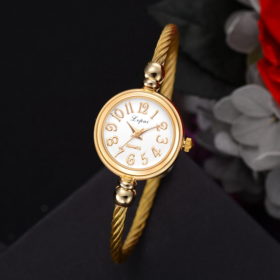 Lvpai Fashion Women Bracelet Watch Luxury Top Brand Stainless Steel Gold Silver Ladies Wristwatch Female Clock Quartz Watch Gift rhinestone sk top luxury brand steel quartz watch fashion women clock female lady dress wristwatch gift silver gold motre femme