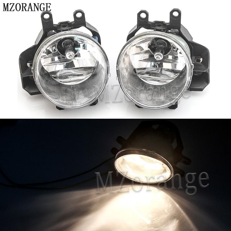 цена на MZORANGE 1 Pair Auto Front Fog Light Lamp For Toyota Highlander 2014 2015 DRL Bumper Lamp With Halogen Bulb Car Styling