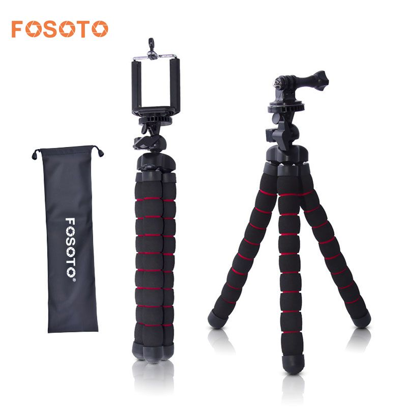 цена fosoto Medium Octopus Flexible Digital Camera Stand Gorillapod Monopod Mini Tripod with Holder for Gopro hero 2 4 3+ 3 and phone