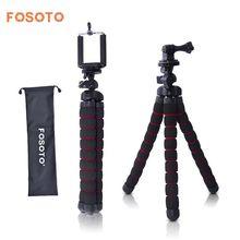 fosoto Medium Octopus Soporte flexible para cámara digital Gorillapod Monopod Mini trípode con soporte para Gopro hero 2 4 3+ 3 y teléfono
