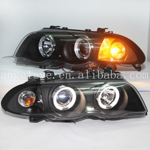 For BMW E46 318i 323i 320i 325i 330i 4 doors Angel Eyes  Head lamp Headlights Front light   1998-2001year SN спойлер bmw e90 318i 320i 325i 330i m3