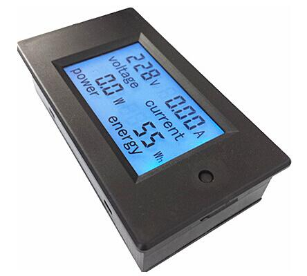 New Voltage Current Power Energy Meter AC 80-260V/20A Voltmeter Ammeter with Blue Backlight Overload Alarm Function for IndoorNew Voltage Current Power Energy Meter AC 80-260V/20A Voltmeter Ammeter with Blue Backlight Overload Alarm Function for Indoor