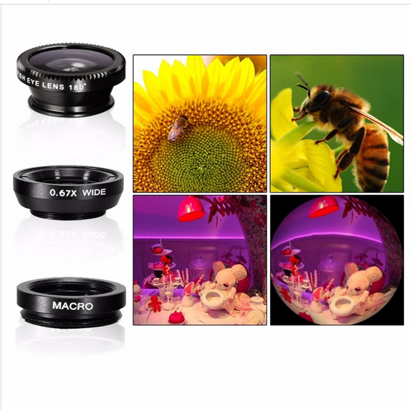 Image 2 - New Arrival 10in1 Mobile Phone Camera Lens Kits 12x Telephoto Lens Wide Angle Macro Lens Fish Eye Selfie Stick Monopod Tripod-in Mobile Phone Lens from Cellphones & Telecommunications