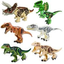 2Pcs/Sets 79151 Jurassic Dinosaur World Figures Tyrannosaurs Rex Building Blocks Toys