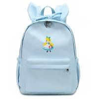 Alice in Wonderland Backpacks Girls Bow Student Shoulder Bag Rabbit Ears Funny Rucksack Women Casual Satchel School Backpack