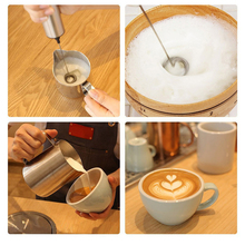 REELANX Electric Milk Frother V2 with Washing Brush Hand Milk Foamer Kitchen Mixer for Cappuccino Coffee Latte with Stand