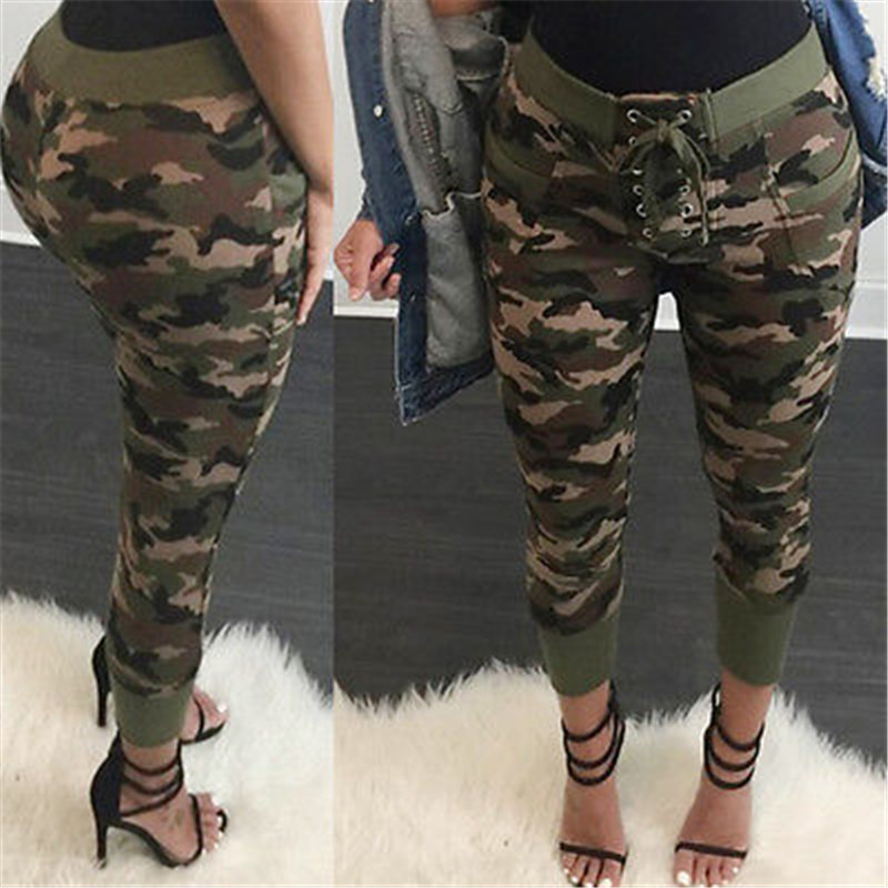 Fashion Women Pencil Stretch Casual Denim Drawstring Skinny Jeans Pants High Waist Jeans Trousers Bandage trousers