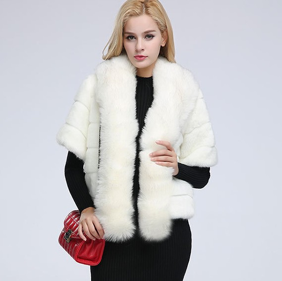 66519ee88ae New Fashion 2018 Faux Fox Fur Coat Women Winter Medium Long Luxury Fake Fur  Coats Female Jacket Overcoat Mex Rabbit Coat Ladies