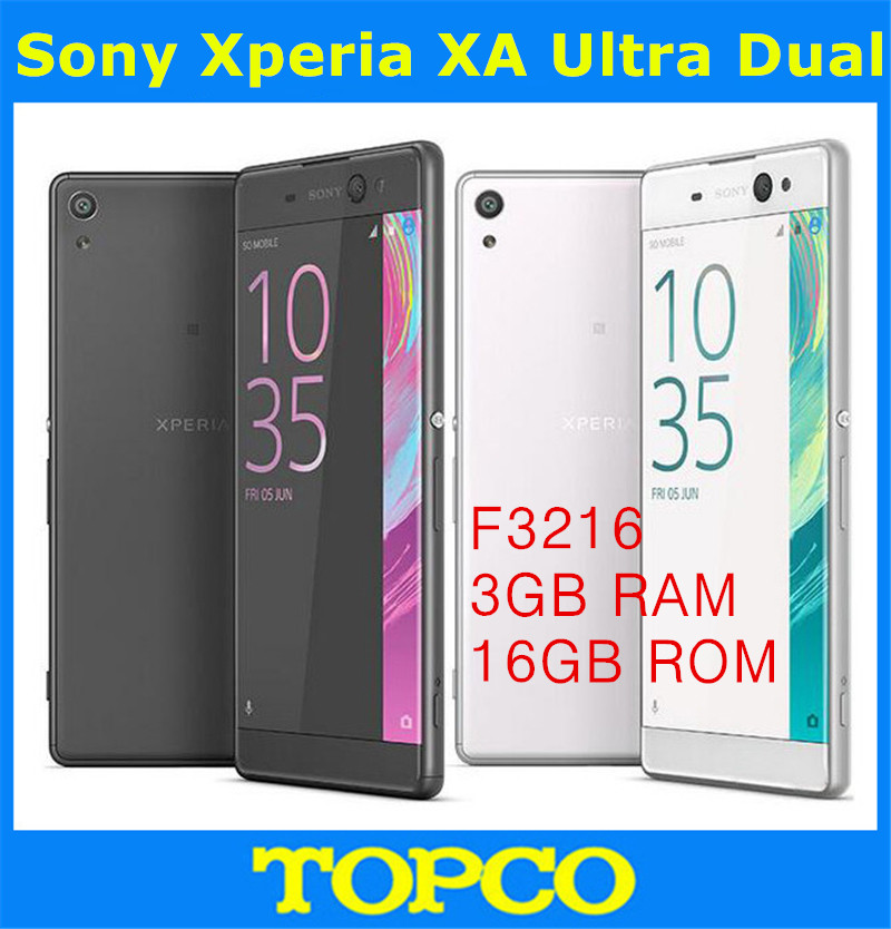Sony Xperia XA Ultra F3216 Original Unlocked GSM 3G&4G Android Mobile Phone Octa Core 6.0