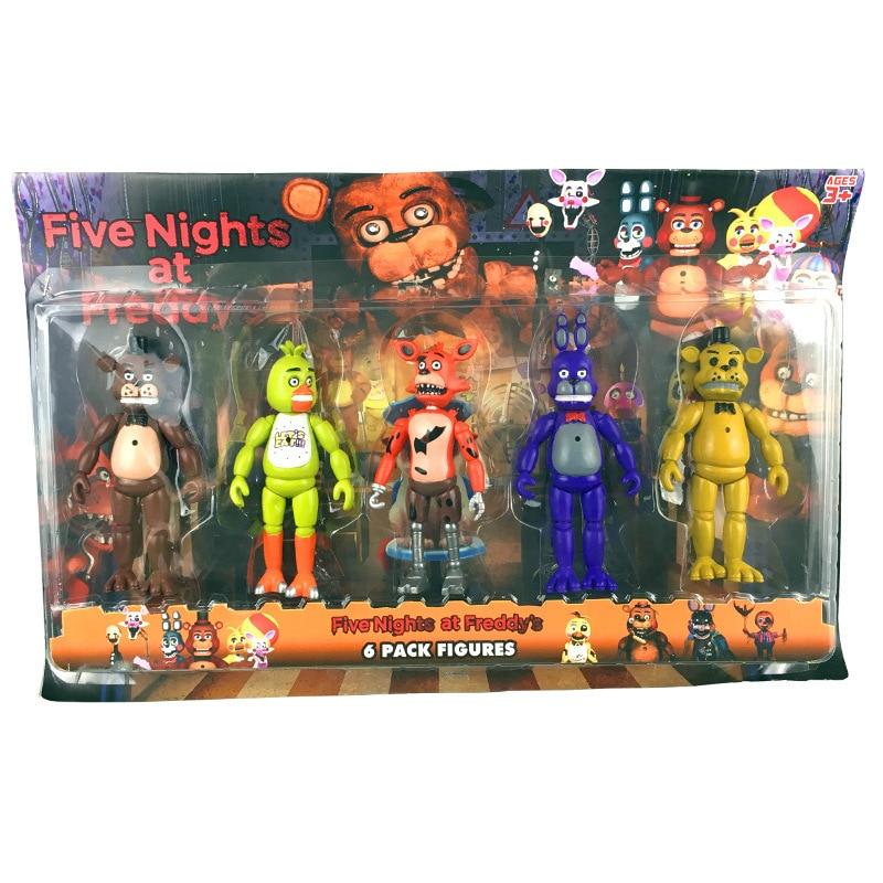 5 Nights At Freddy Toys : Aliexpress buy pcs set movable dolls five nights at