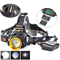 New Rechargeable USB T6 LED Headlamp Headlight LED Head Light Lamp 2300 Lumen 3Modes for Bicycel by 3*AAA /3*AA /2*18650