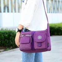 Solid Ladies Messenger Bag 2019 New Arrival Big Crossbody Bags For Women Nylon Female Shoulder Bags Purple Black Blue bag women
