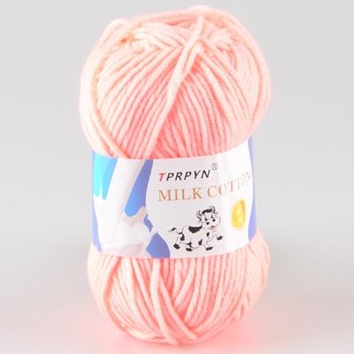 TPRPYN 1 шт. = 50 г пряжа для вязания крючком из молочного хлопка, мягкая теплая Детская Пряжа для ручного вязания - Цвет: 03 meat pink