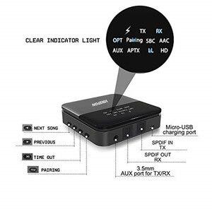 Image 2 - Otomatik, 5.0 Bluetooth ses alıcısı verici aptX HD/LL Hifi Stereo müzik 2 in 1 reseptörü Transmisor adaptörü gönderen TV