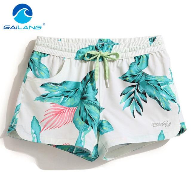 Gailang Brand Women Shorts Boardshorts Swimwear Swimsuit Woman new Boxer  Trunks Quick Drying Board Shorts Short 3d8227851