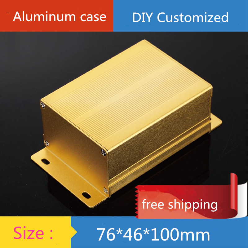 aluminum amplifier chassis electronics instrument housing power shell amp enclosure case diy box 76 mm