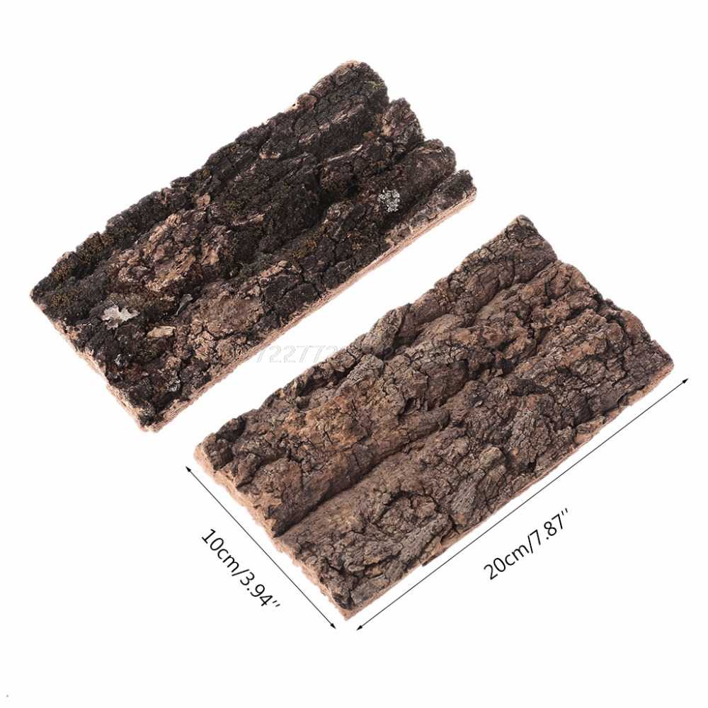 Natural Rodent Reptile Habitat Decoration Lizard Spider Hide Climbing Tree Bark Platform Mr21 19 Dropship