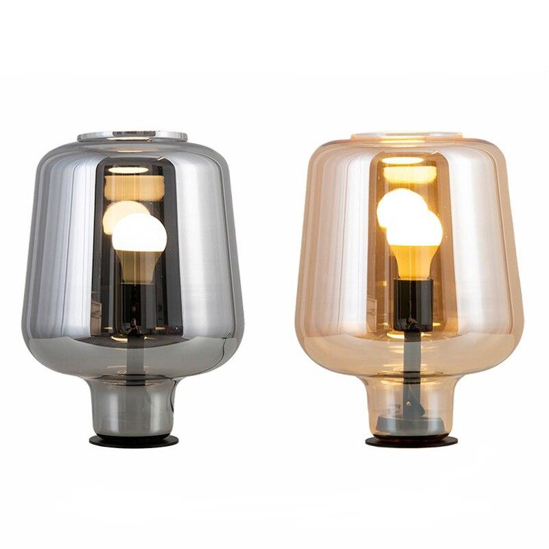 Modern Glass Led Floor Bedside Lights Fashion Design Glass Table Lamps Lights For Living Room Bedroom Lampara De Pie Decorativa|Table Lamps| |  - title=