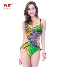 PNT052 Plus Size 2016 Women Swimwear One Pieces Sewn Luxury Sparkling Sequins Bikini Retro Beautiful Midriff Conjoined Swimsuit
