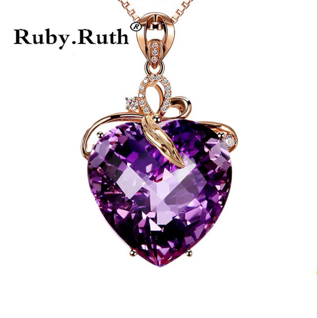 Women NecklaceJewelry Heart Shape Crystal Chain Choker Necklace Jewelry  Gift