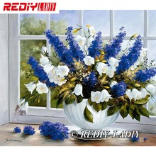 30x39 см точные напечатанные наборы для вышивки хрустальными бусинами, оконные цветы, вышивка бисером, рукоделие, вышивка бисером, вышивка крестиком APT564