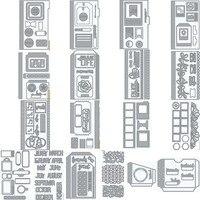 Планировщик металлические режущие штампы предметы первой необходимости трафареты цветок для DIY Скрапбукинг альбом бумага декоративная от...