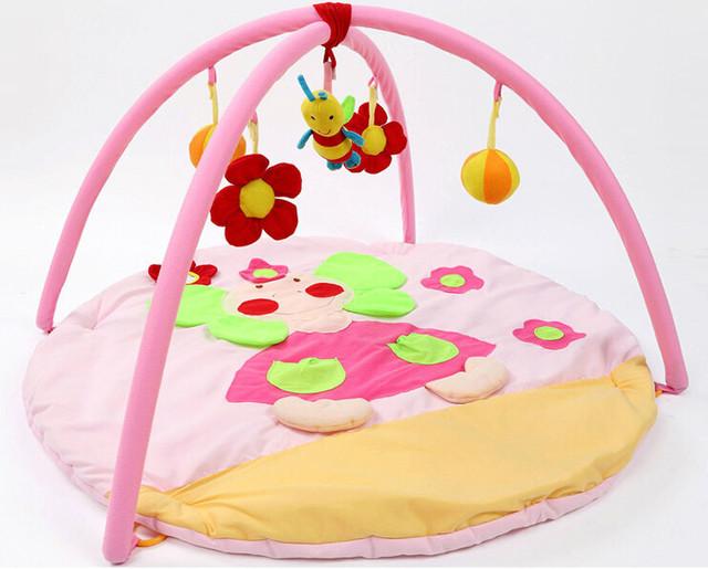 Adorável Bee! 95 cm * 95 cm * 50 cm! Brinquedo do bebê Esteira do Jogo Atividade Gymini Playmat Ginásio Jogue Playmats Colorido Torção e Dobra com 5 Brinquedos