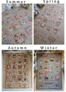 Image 1 - Collection or, joli Kit de points de croix comptés, calendrier quatuor, printemps, été, automne et hiver