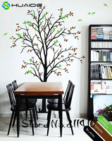 Spring Tree Wall Decals Large Tree With Birds Wall Stickers Home Decor Living Room Custom Color Vinyl Wall Tattoo Mural JW198A