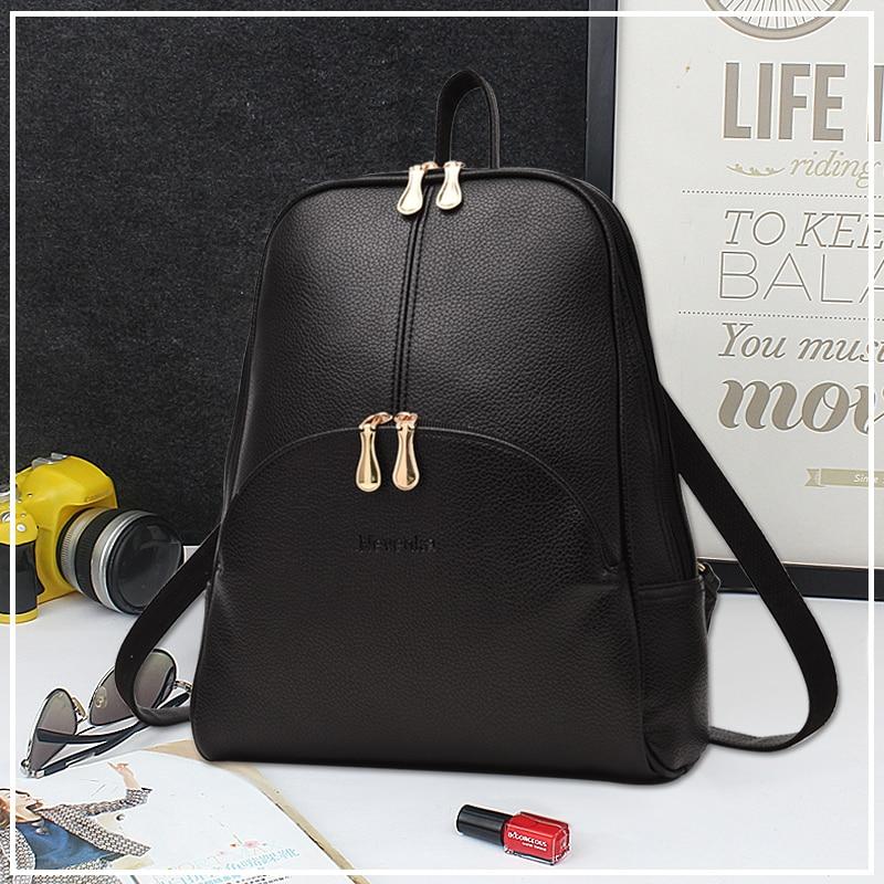 Nevenka Women Backpack Leather Backpacks Softback Bags Brand Name Bag Preppy Style Bag Casual Backpacks Teenagers Backpack Sac