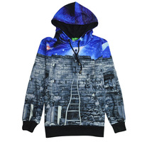 3D Mall New Harajuku Sweatshirt Hoodies 3D Print Wall Galaxy Hip Hop Coats Casual Sportwear The