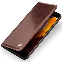 QIALINO Case For Xiaomi 6 Handmade Genuine Leather Wallet Flip Bag Cover For Xiaomi 6 Luxury