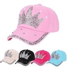 Women Hip Hop Baseball Cap Kids Fashion Crown Snapback Bone Hat