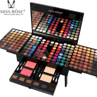 Miss Rose 180 Color Matte & Shimmer Eyeshadow Palette Professional Eye Makeup Full Color Eye Shadow Make Up Kit Piano Shape A29