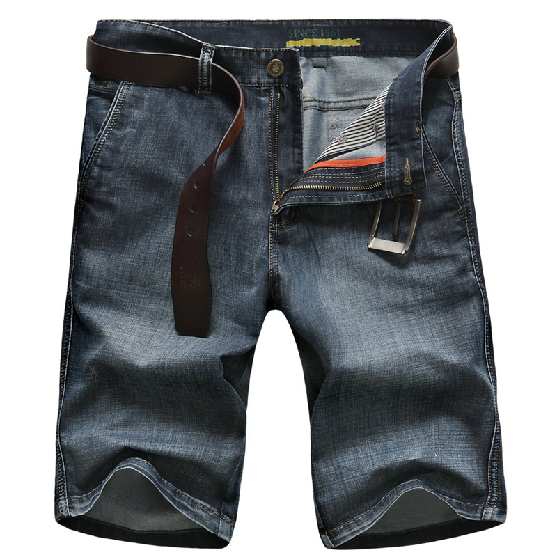 Mens Retro Casual   Shorts   Cargo Denim   Shorts   Men Jeans Vintage Faded Multi-Pockets Military Biker   Short   Jeans Plus Size 30-42